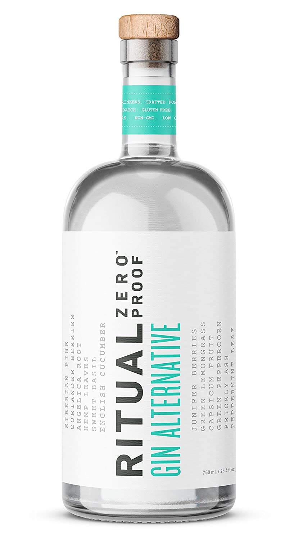 RITUAL ZERO PROOF Gin Alternative   An Award-Winning Non-Alcoholic Spirit   25.4 Fl Oz