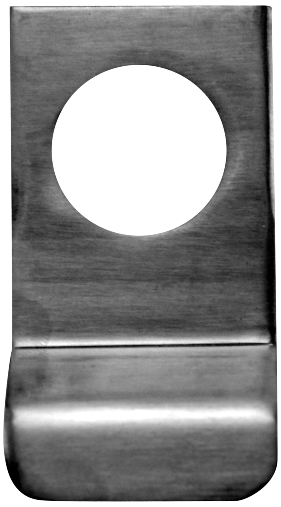 Don-Jo 1875 11 Gauge Stainless Steel Cylinder Pull, Satin Stainless Steel Finish, 2-1/8'' Hole, 3'' Width x 4-1/2'' Height