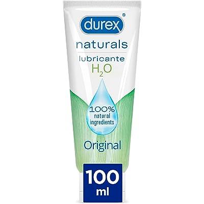 Durex Naturals H2O Lubricante, 100% natural sin fragancia, colorantes ni agentes irritantes - 100 ml