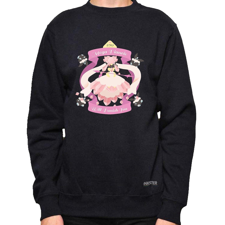 Pok/émon Shirt Mega Diancie Fanart Large, Black Crewneck