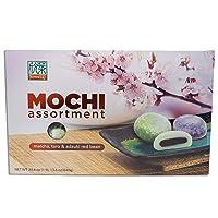 Formosa Japanese Mochi Assortment Pack with Matcha Green Tea, Taro, & Red Beam