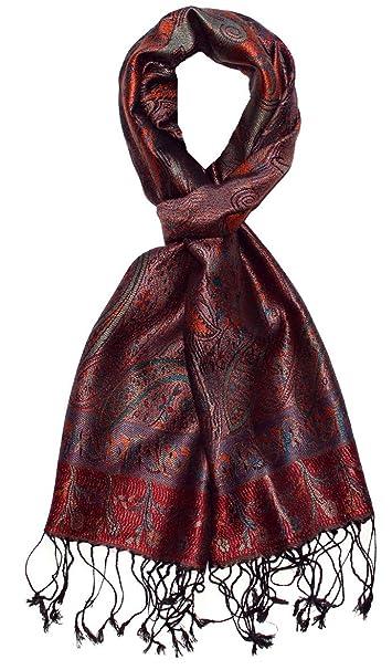543eeef9d5c73a LORENZO CANA - Luxus Seidenschal Herren Schal 100% Seide jacquard gewebt  harmonische Farben mit Fransen