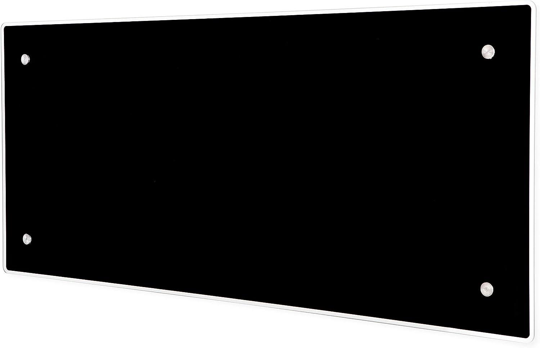 ADAX Clea H IP24C Radiador el/éctrico Moderno de Vidrio 340mm 400W Class II KDT Negro