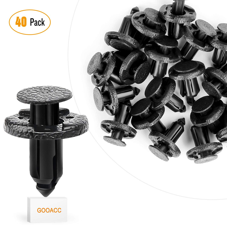 GOOACC GRC-22 Bumper & Radiator Support Clip (40 Nissan & Infiniti) Automotive Furniture Assembly Expansion Screws Kit Auto Body Clips 8mm - 40PCS
