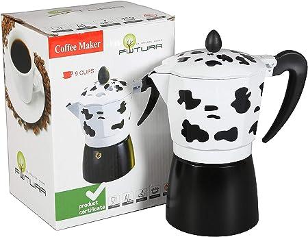 Cafetera italiana clásica vaca 6 tazas | cafetera original | (17 x 10 x 19 cm): Amazon.es: Hogar