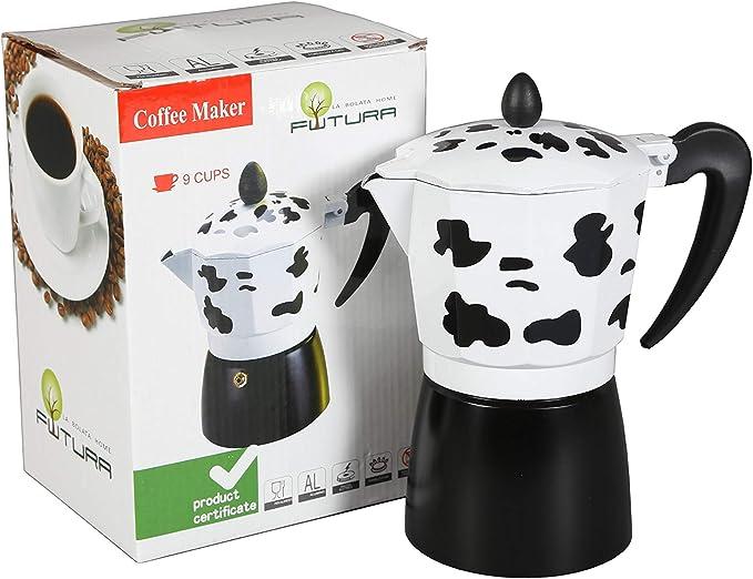 Cafetera italiana clásica vaca 6 tazas   cafetera original   (17 x ...
