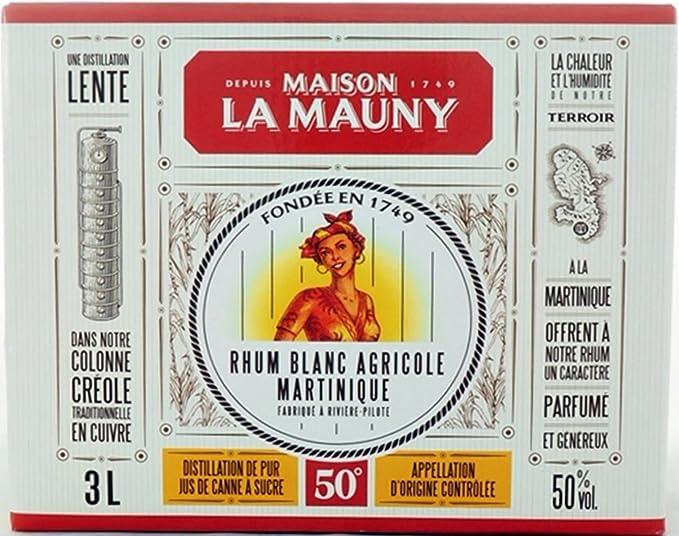 Ron La Mauny blanco 50% Box 300 cl: Amazon.es: Alimentación y ...