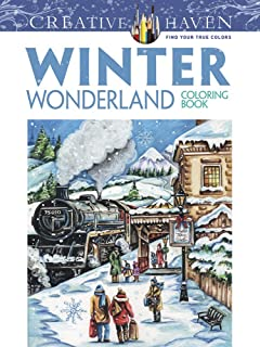 Creative Haven Winter Wonderland Coloring Book Adult