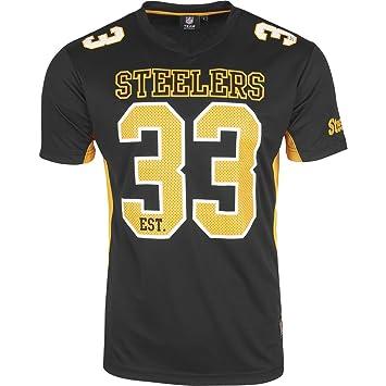c87b29b3 Majestic Pittsburgh Steelers Moro Est. 33 Mesh Jersey NFL T-Shirt