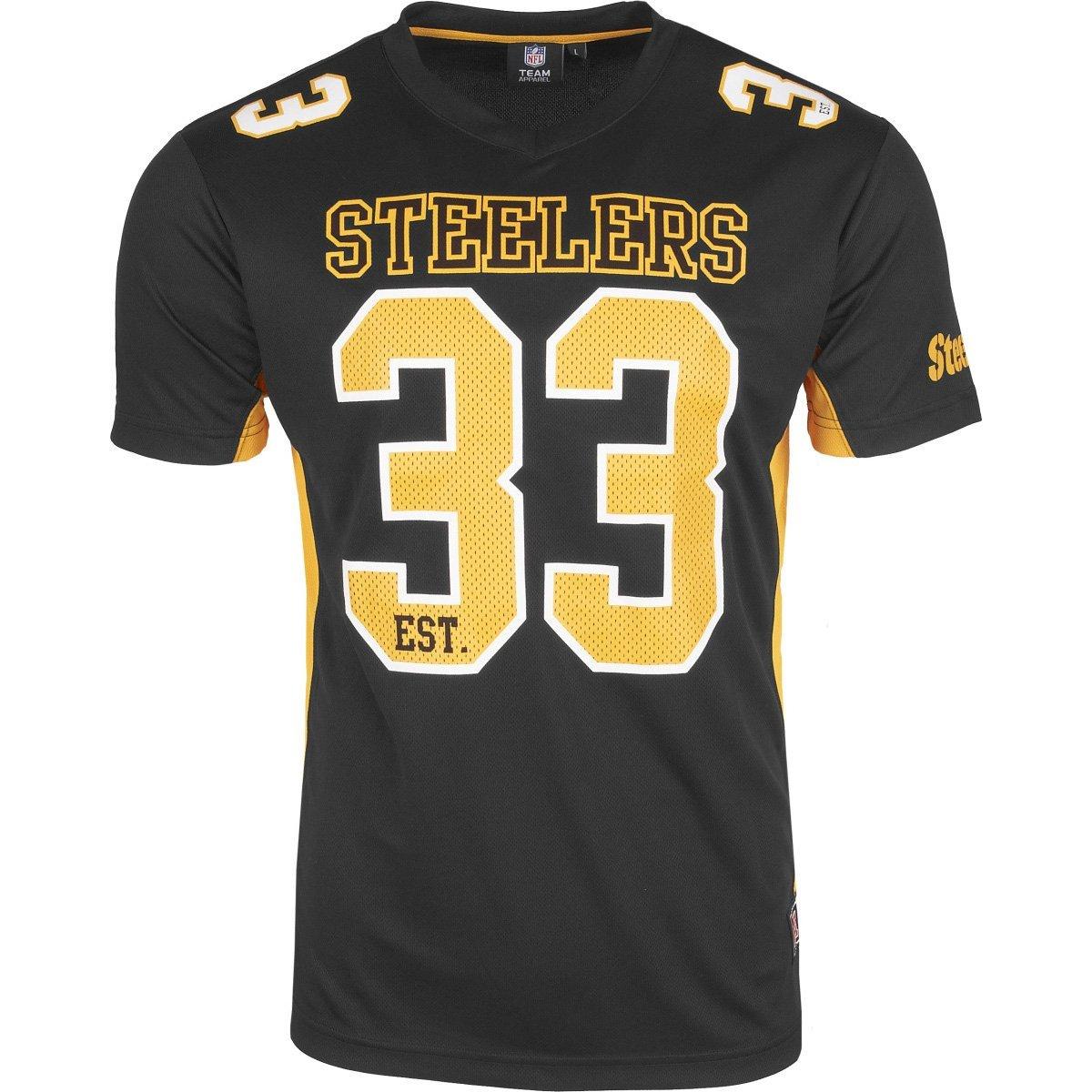 Majestic Pittsburgh Steelers Moro Est. 33 Mesh Jersey NFL T-Shirt majestic athletics