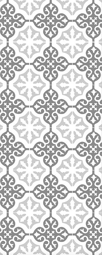 Plage 161009 - Adhesivo Decorativo para mampara de Ducha (Vinilo, 80 x 200 cm), Color Gris: Amazon.es: Hogar