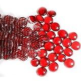 ARSUK Guijarros, cuentas de vidrio y guijarros, pepitas de vidrio, gemas de forma redonda, piedras decorativas para…
