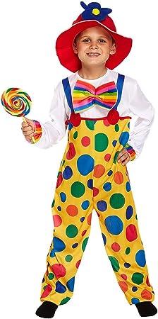 Kids - Disfraz de payaso de circo para niño, talla 4-6 años (U37 ...
