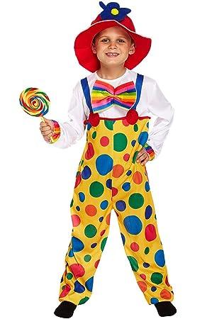Kids - Disfraz de payaso de circo para niño, talla 4-6 años (U37 707)