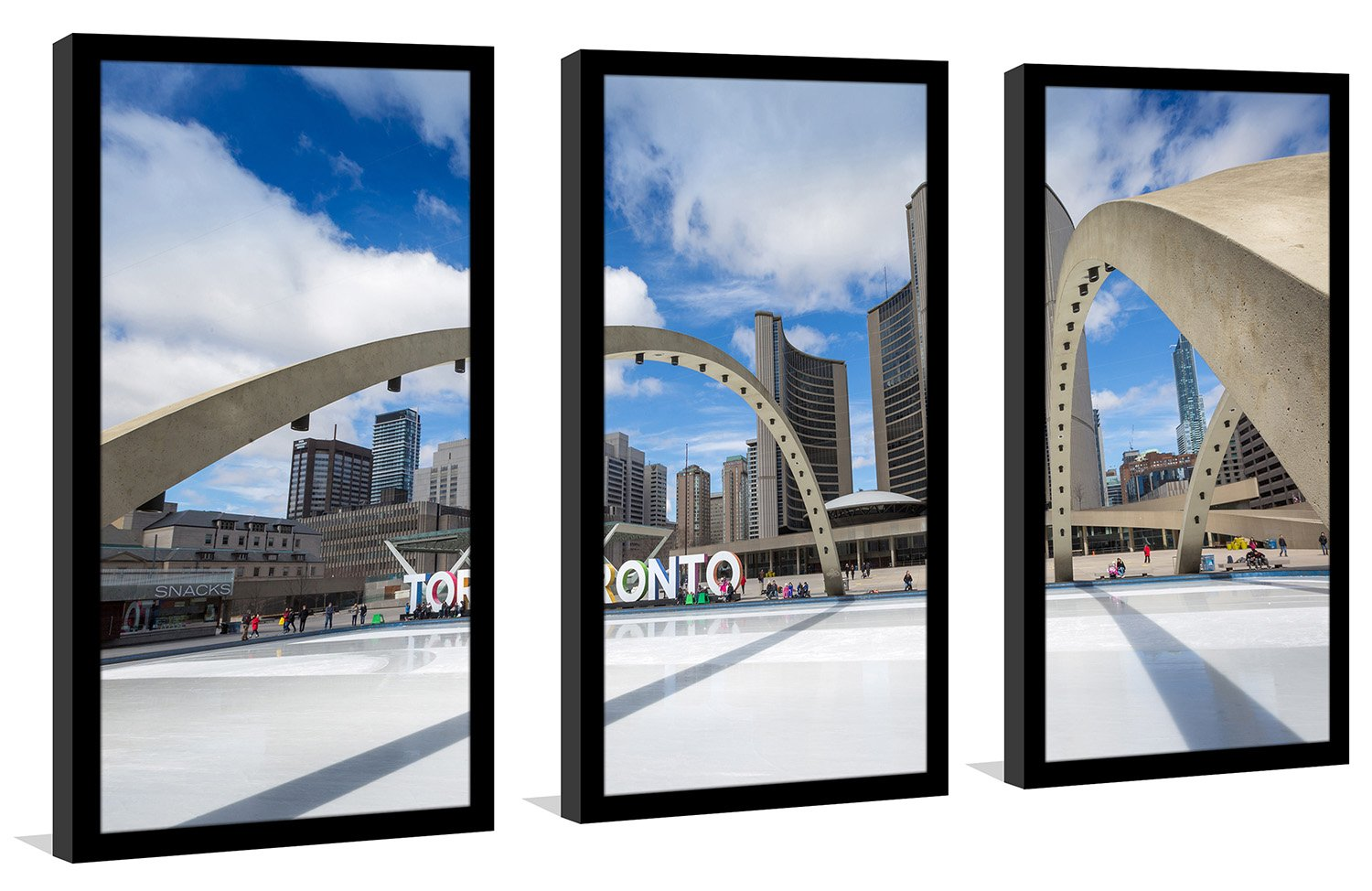 Picture Perfect InternationalNathan Phillips Square Framed Plexiglass Wall Art Set of 3