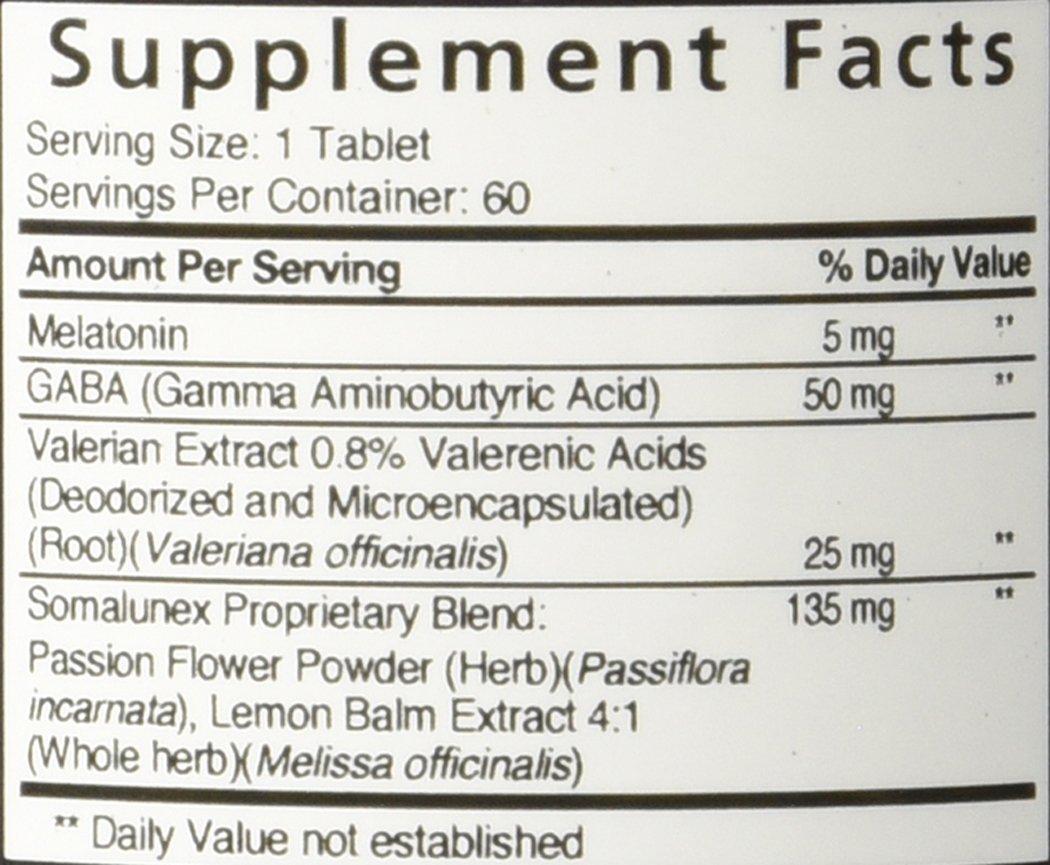 Amazon.com: SomaLunex Extra Strength Sleeping/Calming/Stress Relief Pills w/ Melatonin, Chamomile, Valerian, & St Johns Wort - Timed Release Tablets (180 ...