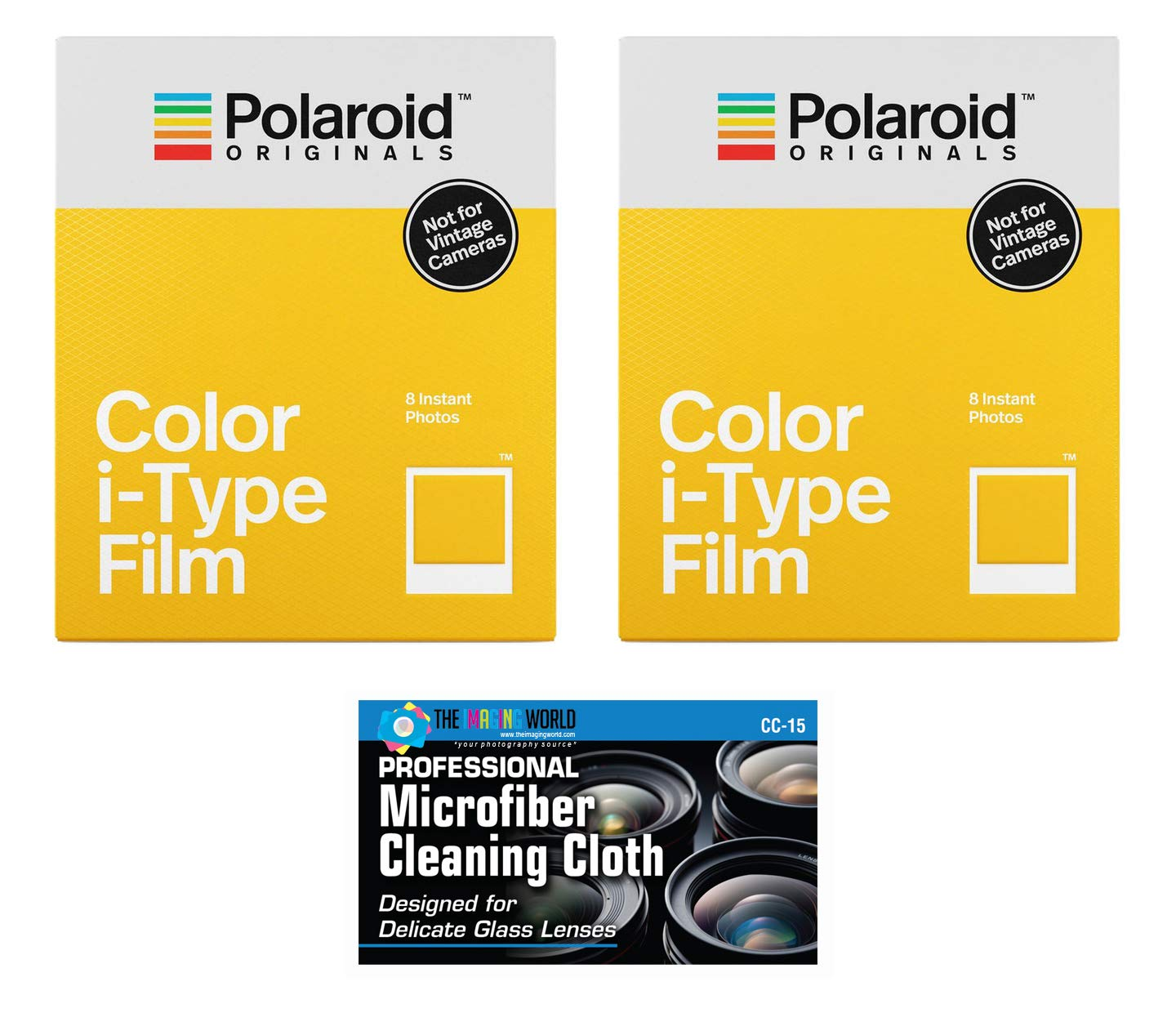 Impossible/Polaroid Color Glossy Instant Film for Polaroid Originals I-Type OneStep2 Camera - 2-Pack by The Imaging World