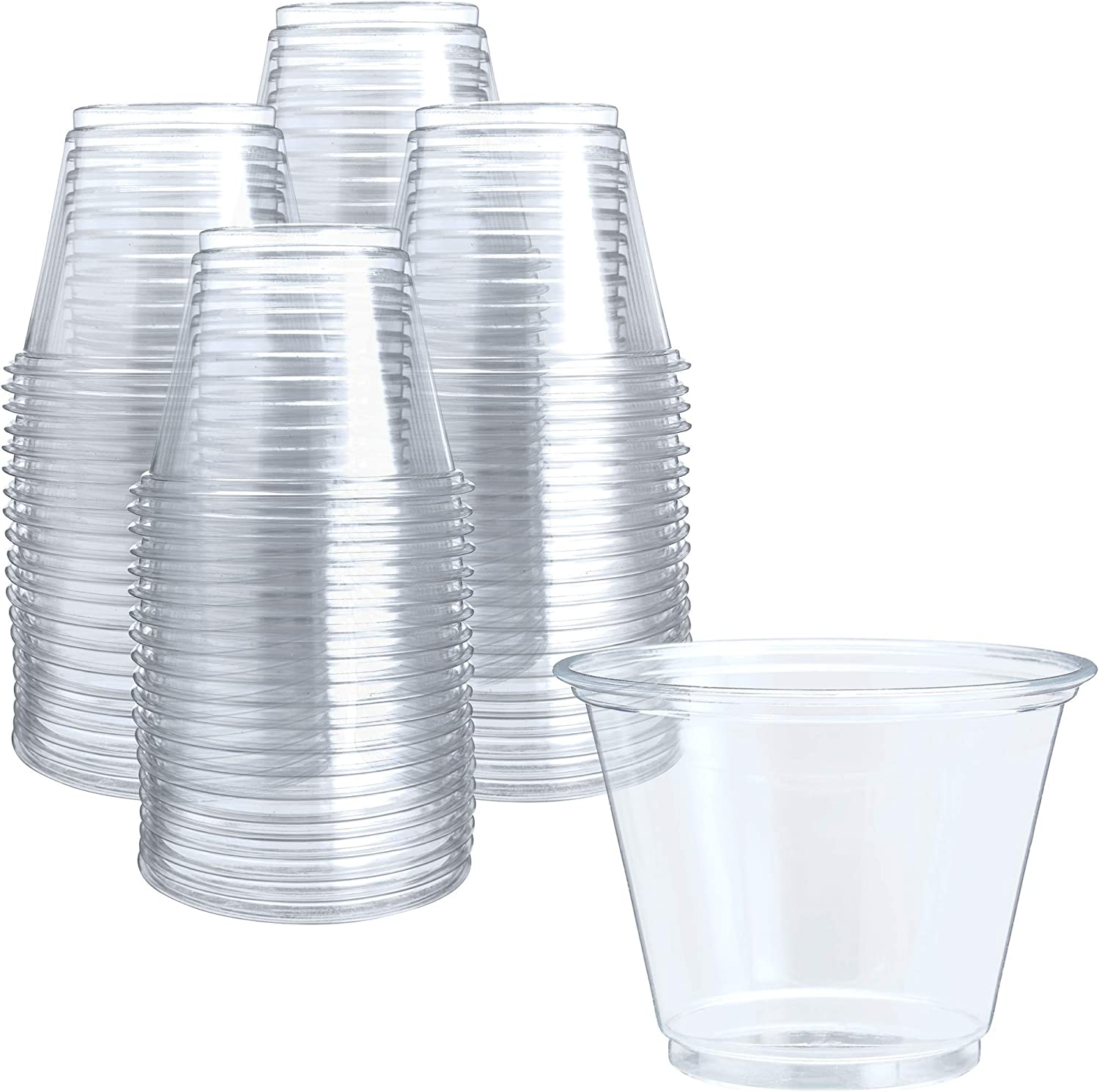 250 Clear Plastic Cups 9 Oz Plastic Cups Clear Disposable Cups Pet Cups Clear Plastic Party Cups Crystal Clear Plastic Cups Kitchen Dining
