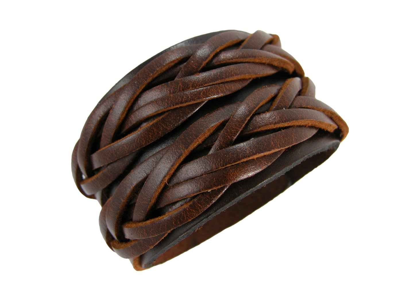 BrownBeans, Braided Design Quality Brown Women's Leather Bracelet (LBCT8044) by BrownBeans