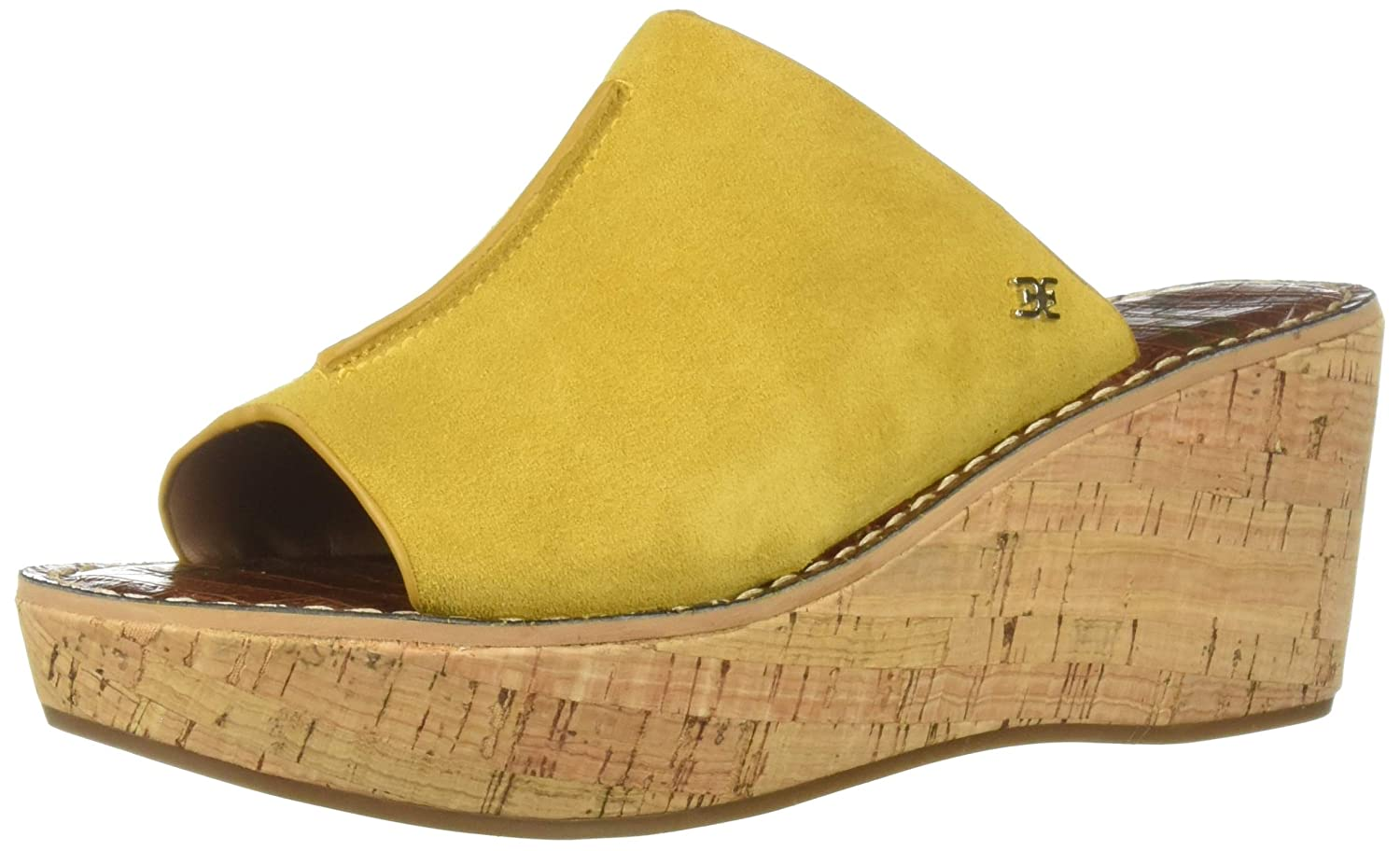 Tuscan Yellow Suede Sam Edelman Women's Ranger Wedge Sandal