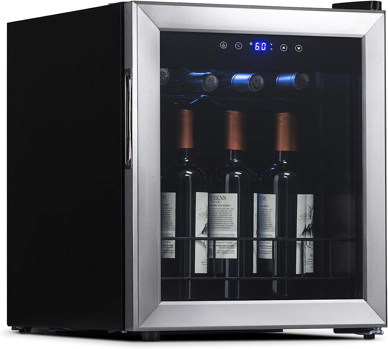NewAir NWC016SS00 Freestanding Wine Cooler, Stainless Steel, 16