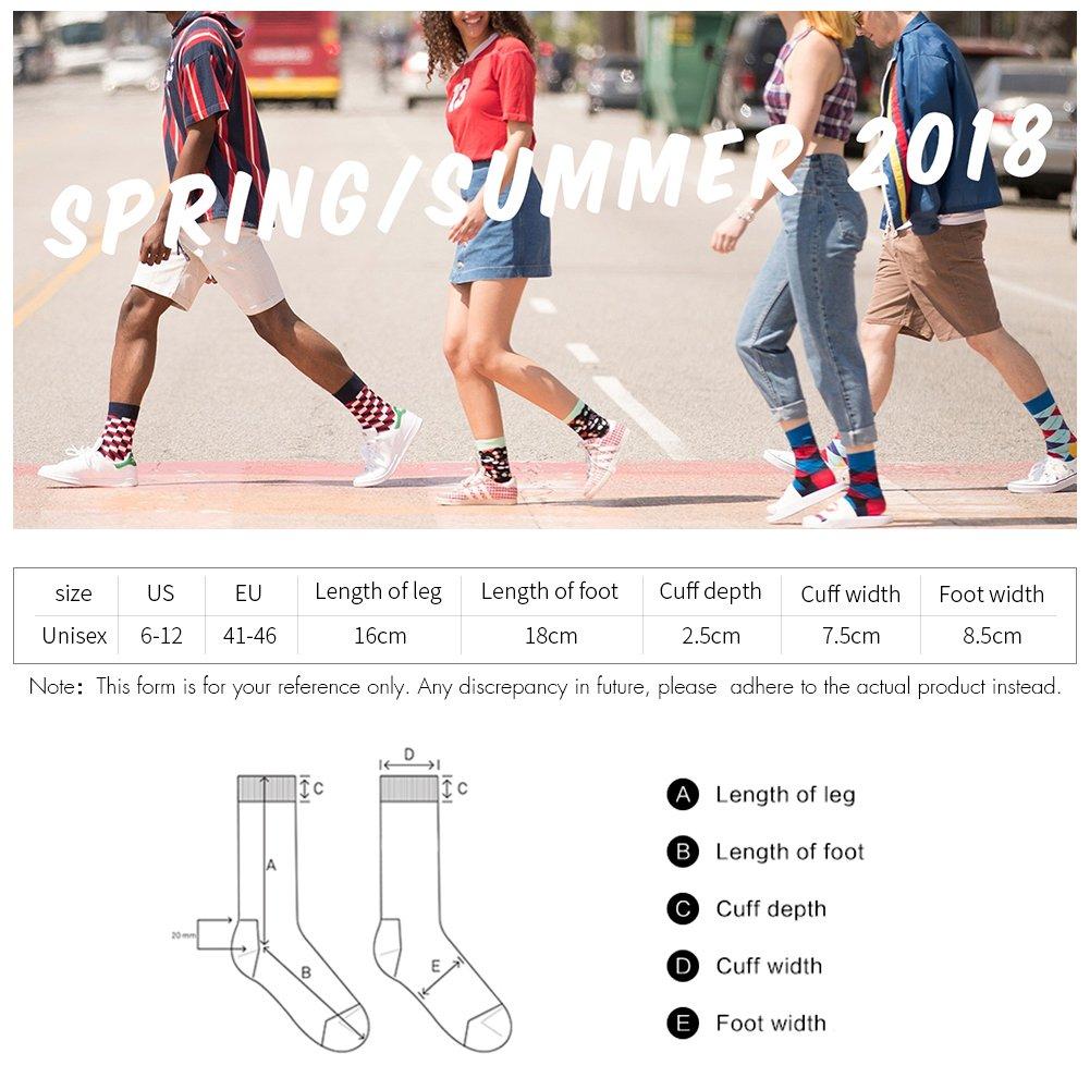Bonangel Men's Fun Dress Socks-Colorful Funny Novelty Crew Socks Pack,Art Socks by Bonangel (Image #4)