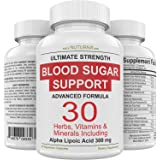 Blood Sugar Support Supplement - 30 Herbs, Vitamin & Minerals Formula for Diabetic Blood Sugar Control & Extra Energy with 30