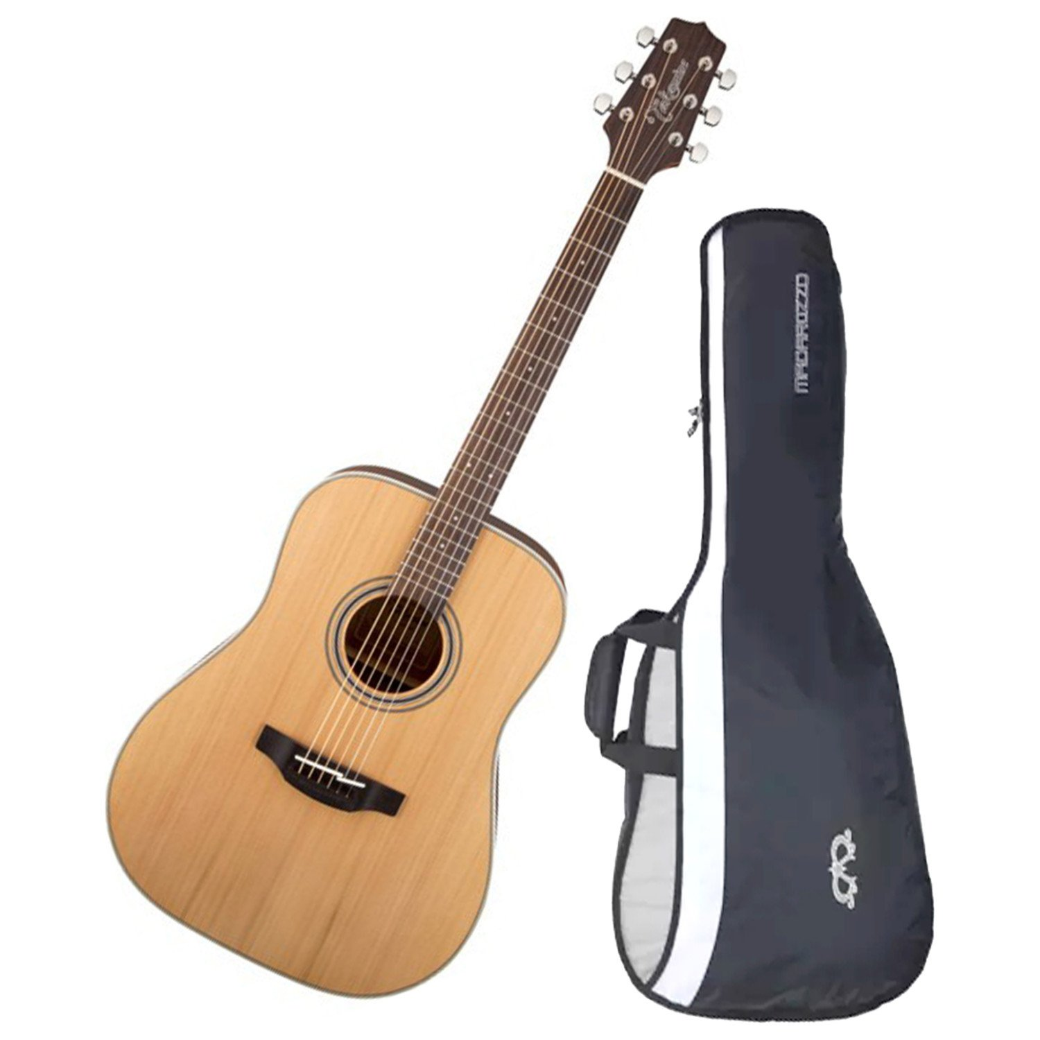 Takamine GD20-NS Satin Natural Acoustic Guitar Dreadnought Spruce Top with Bag by Takamine