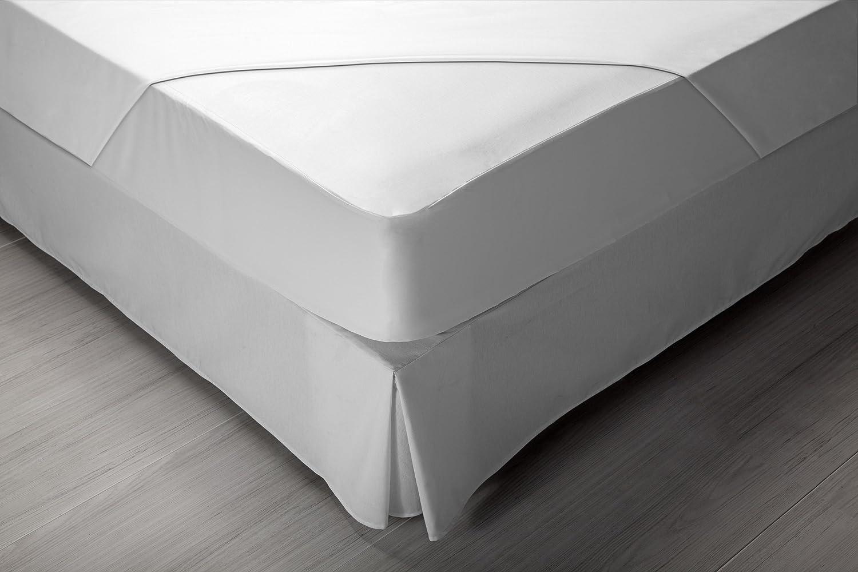 Pikolin Home RF211, Protector de Colchón, híper-transpirable e impermeable, Blanco, Largo 190/200 cm: Amazon.es: Hogar