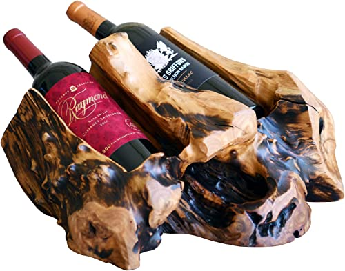 WELLAND Wood Countertop Wine Bottle Holder