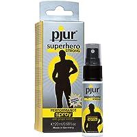 pjur superhero STRONG performance spray - Espray retardante muy concentrado para hombres - extracto de jengibre para…