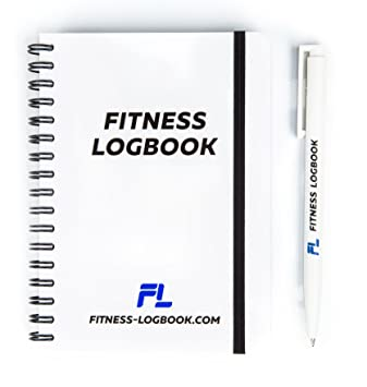 amazon com fitness logbook undated workout journal w pen 4 x 6