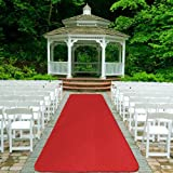 House, Home and More Red Carpet Aisle Runner - 4' x