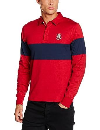 Gant Chest Stripe Heavy Rugger, Polo para Hombre, Rojo (Thunder ...