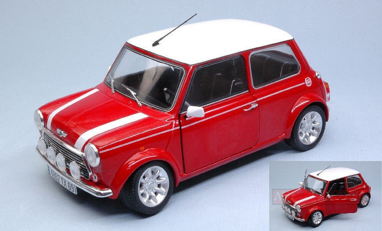 New Solido Sl1800602 Mini Cooper Sport Model 1997 Red 1 18 Modellino