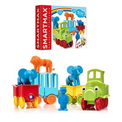 SmartMax My First Animal Train STEM Magnetic Discovery Play Set with Moving Train and Soft Animals for Ages 1-5: Toys & Games