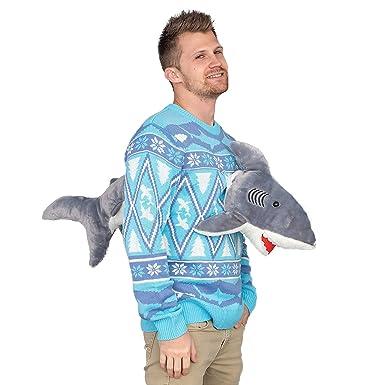 Disfraz Agente 3D tiburón Plushie Jersey de Navidad: Amazon.es ...