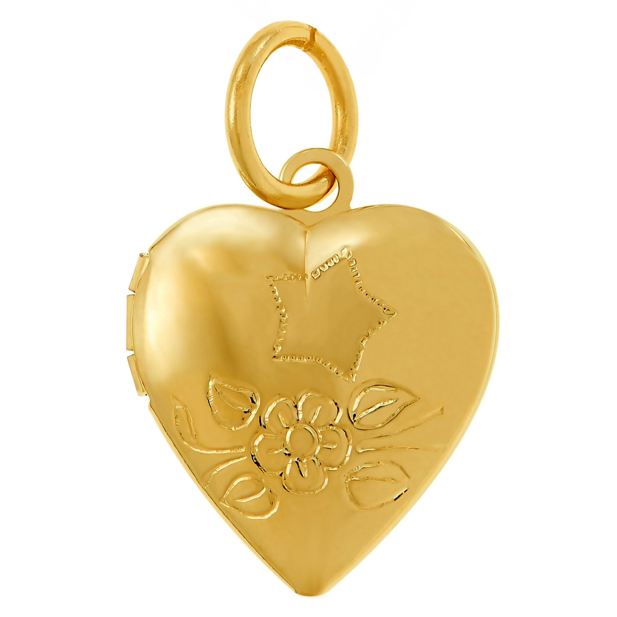 Lifetime Jewelry Tiny Heart Locket, 24K Gold Over Bronze Pendant Necklace, Guaranteed for Life, (Locket Only)