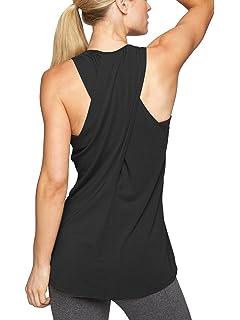 aeaf2cc4bb504 Bestisun Women s Racerback Tank Top Crossover Back T-Shirt Casual Workout  Shirt