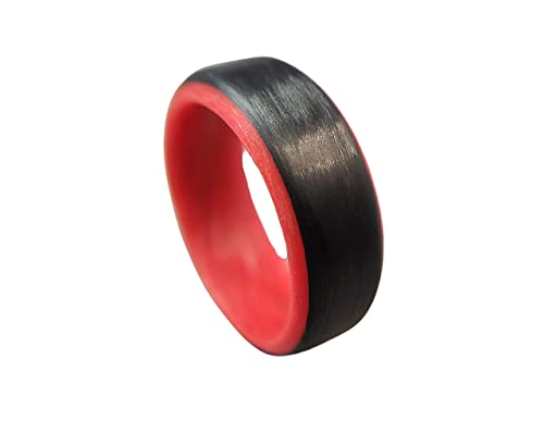 Carbon Fiber Glow Ring-Red
