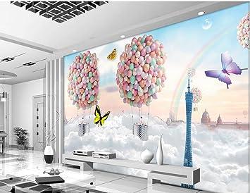 Malilove 3d Wallpaper Fur Zimmer Bunte Ballon Guangzhou Tower Mode