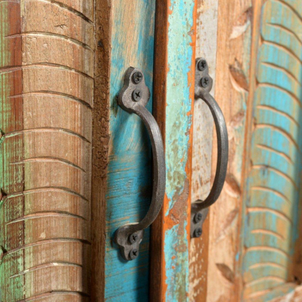 Mueble de baño de madera reciclada con espejo: Amazon.es: Hogar