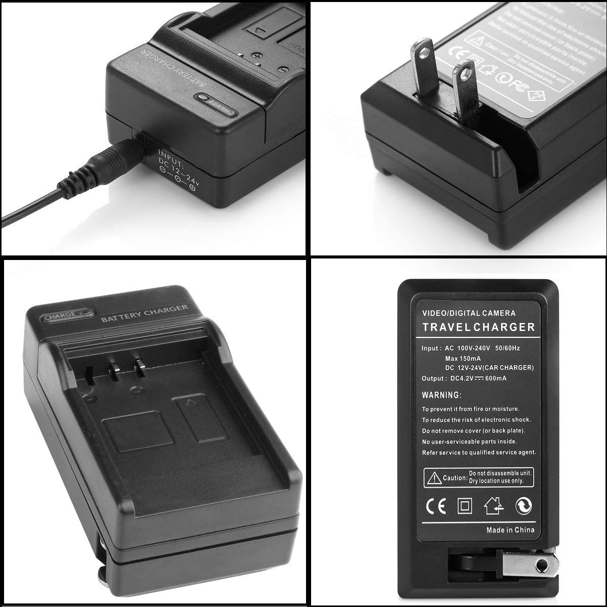 HDR-CX115E Micro USB Battery Charger for Sony HDR-CX106E HDR-CX155E Handycam Camcorder HDR-CX116E