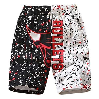 Zijinlong Shorts de baño de Playa de Baloncesto con Estampado 3D ...