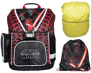 031950d71c603 Star Wars Schulranzen Jungen 1 Klasse Tornister Schulrucksack Schultasche  Set 3 teilig für Grundschule super leicht