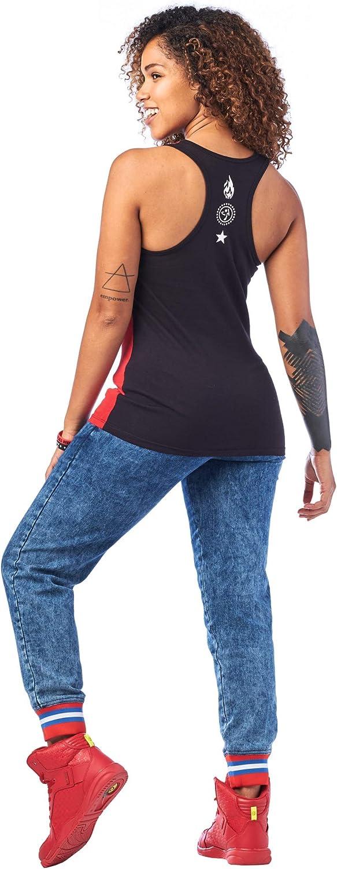 Zumba Fitness Damen Zumba Soft Graphic Print Dance Fitness Tanks Workout Racerback Tops for Women Hemd