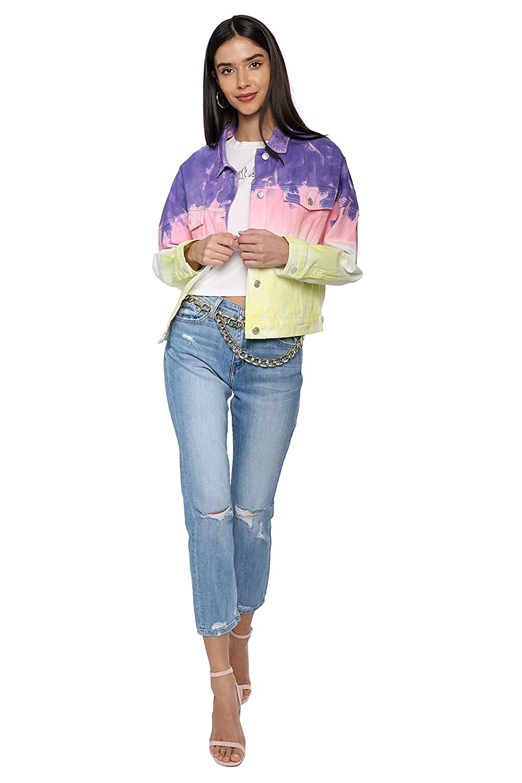 Brooklyn Karma Tie Dye Denim Jacket