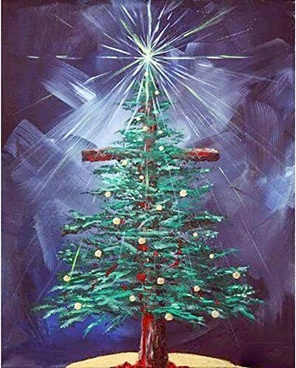 Full Drill 5D Diamond Painting Christmas Tree Cross Stitch Kits Embroidery Decor