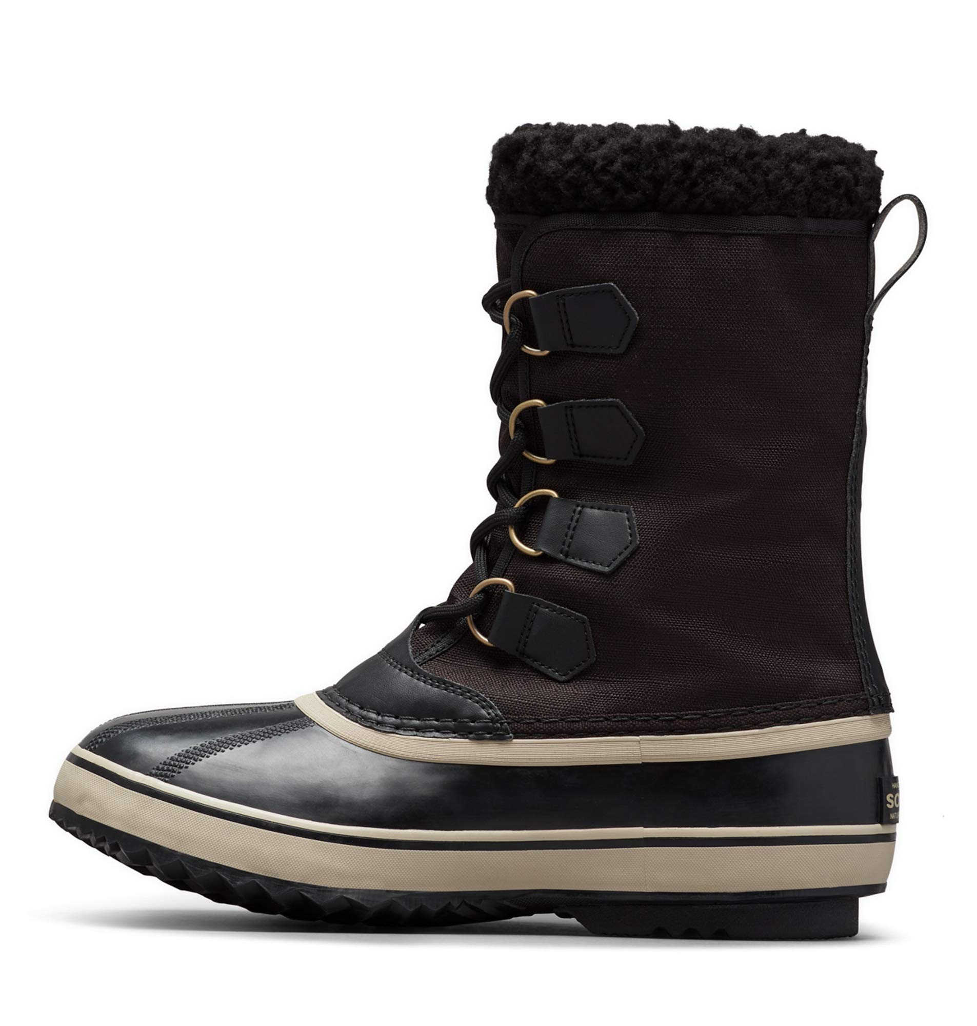 Sorel - Men's 1964 Pac Nylon Snow Boot for Winter, Black/Ancient Fossil, 7 M US by Sorel