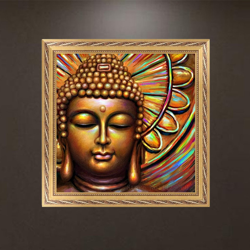Kofun DIY 5D Diamond Painting Buddha Paint By Numbers Diamanti Ricamo Pittura Punto croce Kit fai da te Home Decor 30x30 cm